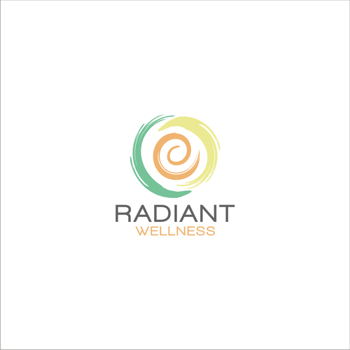 simple logo concept for Radiant Wellness