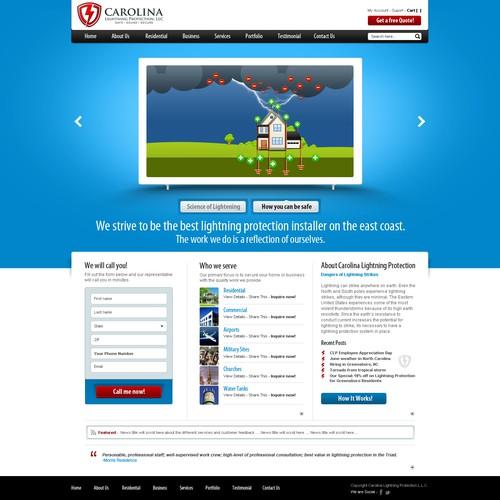 *Prize Guaranteed* Website Design for Carolina / Virginia Lightning Protection, LLC