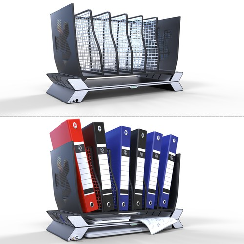 Design a modern stylish folder organizer