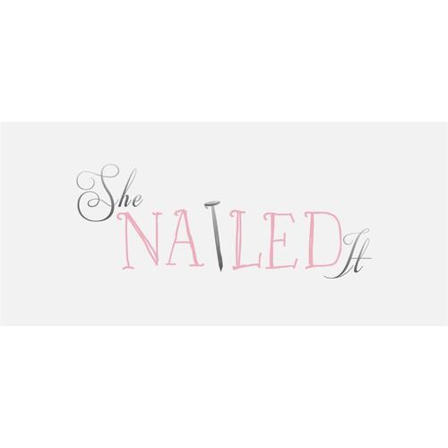 Create a cute nail-head logo for a new fashion blog
