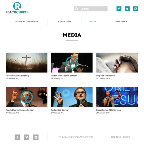 Sharp and Simple Church website!