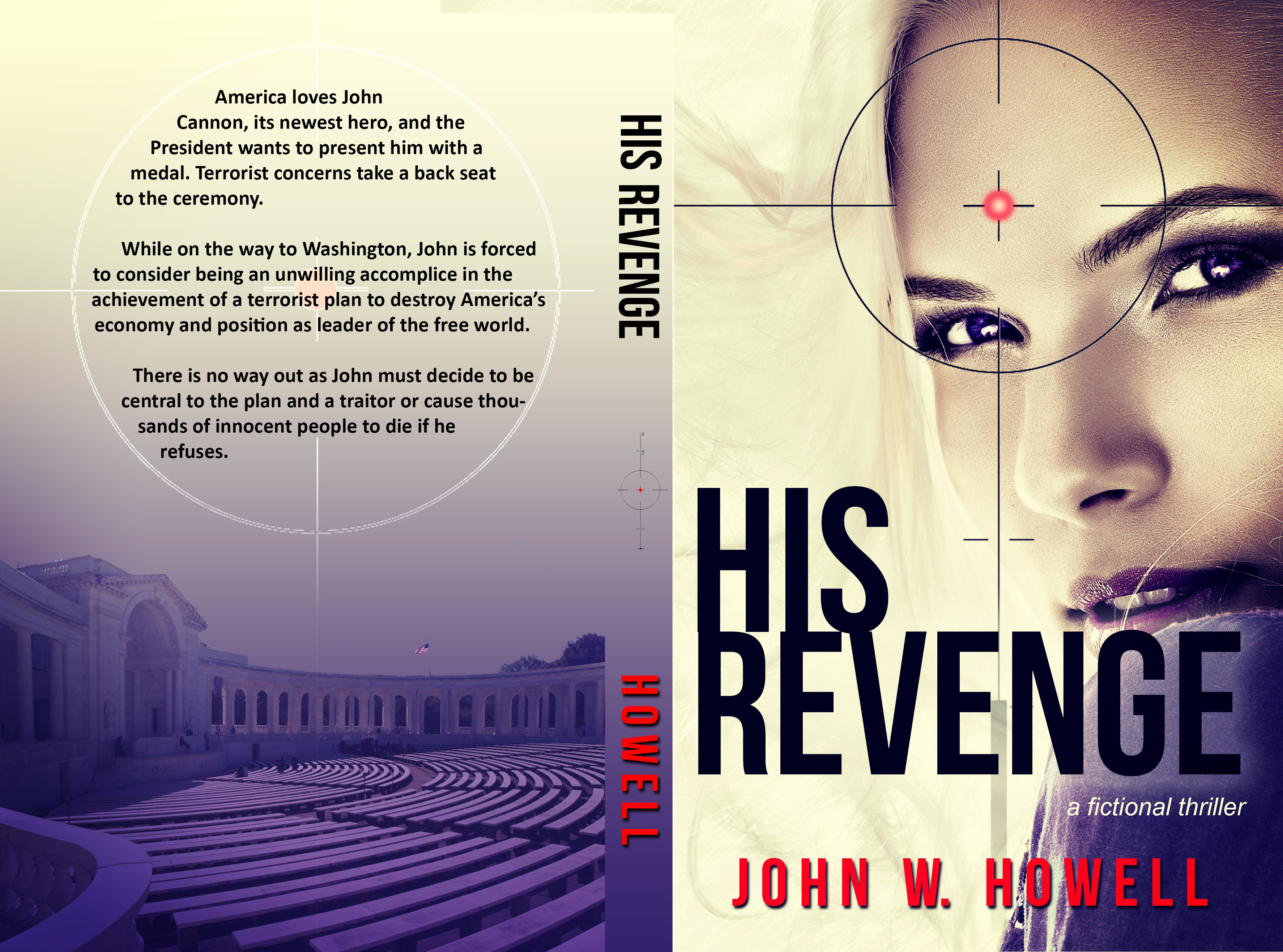 Create a compelling e-book and print cover for the second John J Cannon Thriller