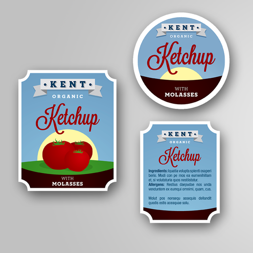 Kent Ketchup Product Label