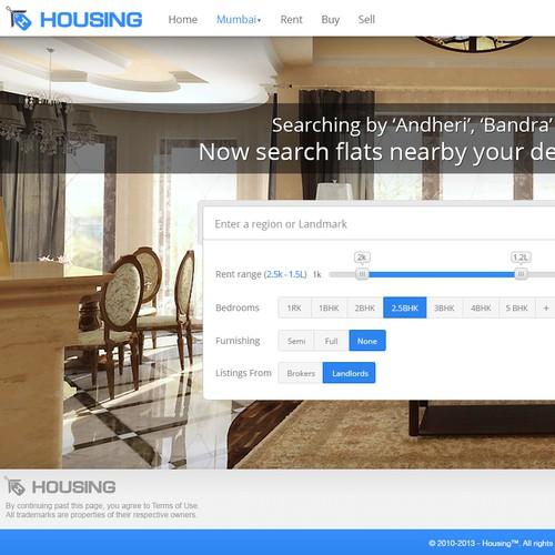 Website design for Housing