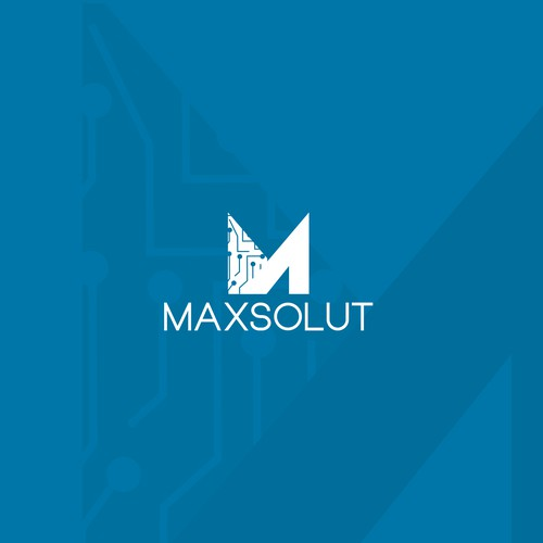 MaxSolut Logo Designs