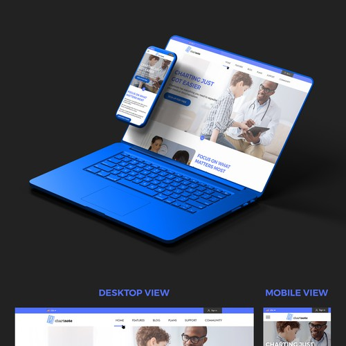 New web app design for doctors.