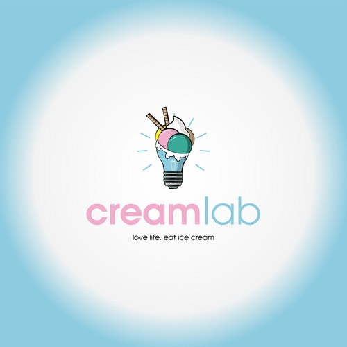 Logo Design fore CreamLab ice cream shop