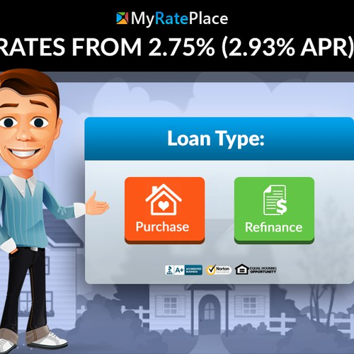 Design to Convert! One page lead capture for mortgage loans.