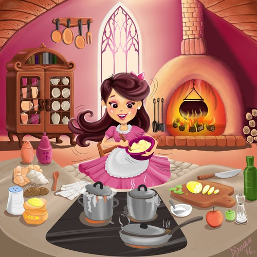 Illustration for web video for children