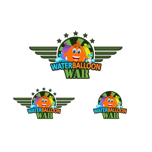 Create a fun hip logo for a water balloon fight event