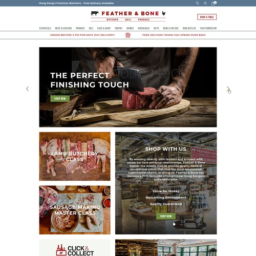 BUTCHERS DELI WEBSITE- REDESIGN