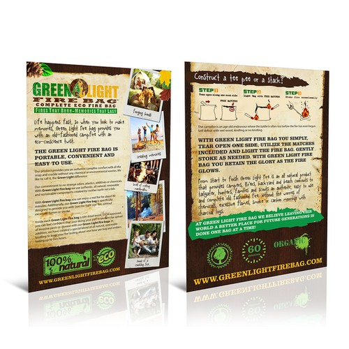 Help Green Light Fire Bag with a new postcard or flyer