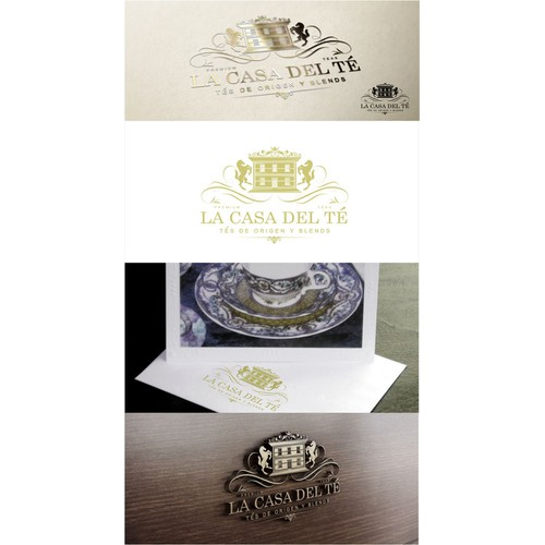 LUXURY VINTAGE LOGO FOR LA CASA DEL TE