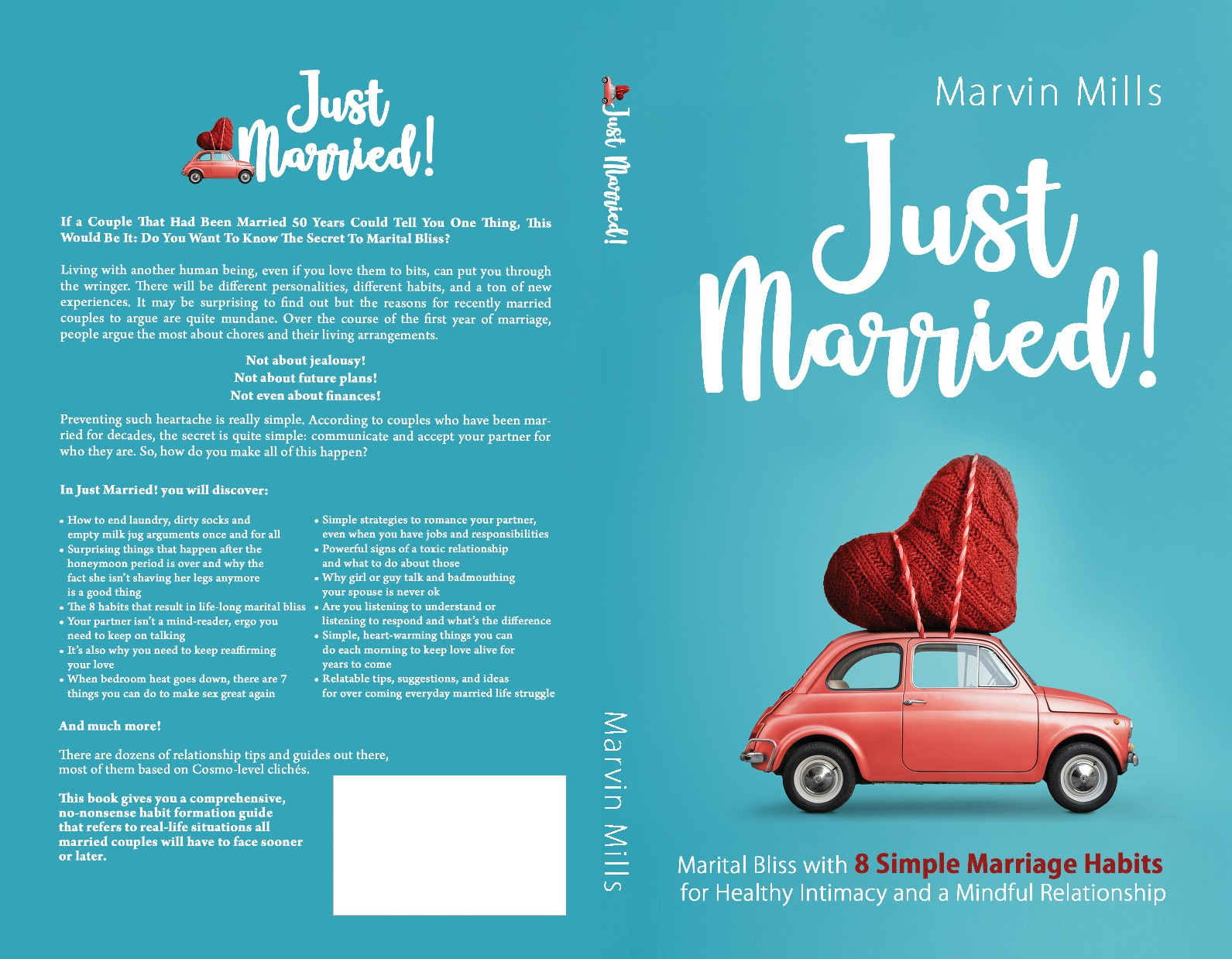 Colorful Book Cover Design for Newlyweds