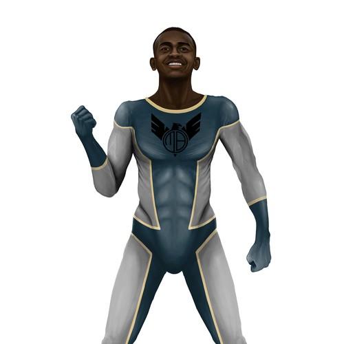 Illustration of Super Hero character