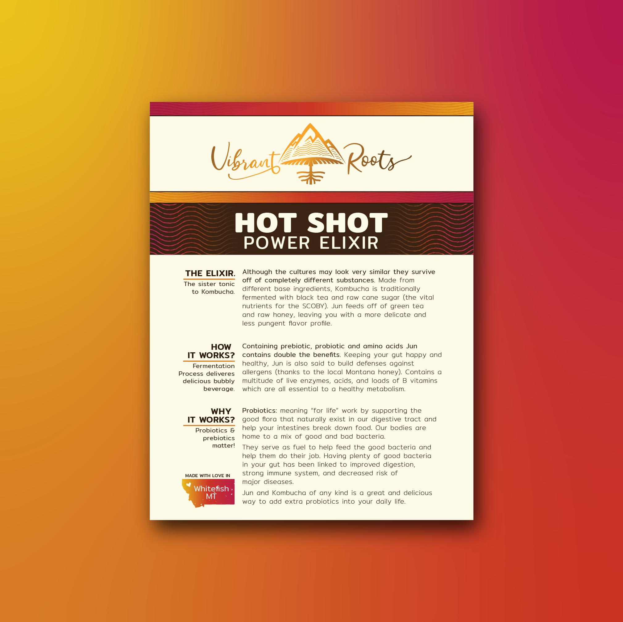 Vibrant Roots Hot Shot Product Flyer