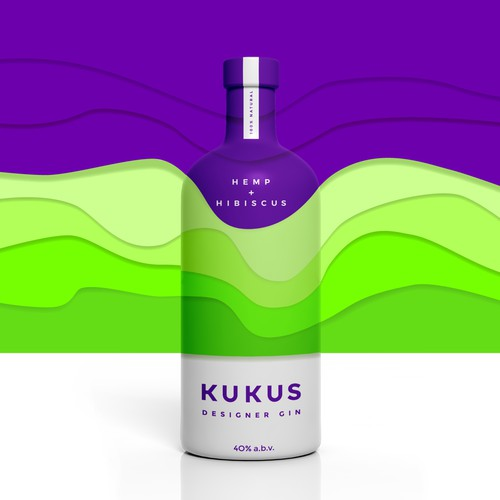 A colorful, bold and minimalist design for a spirits brand.