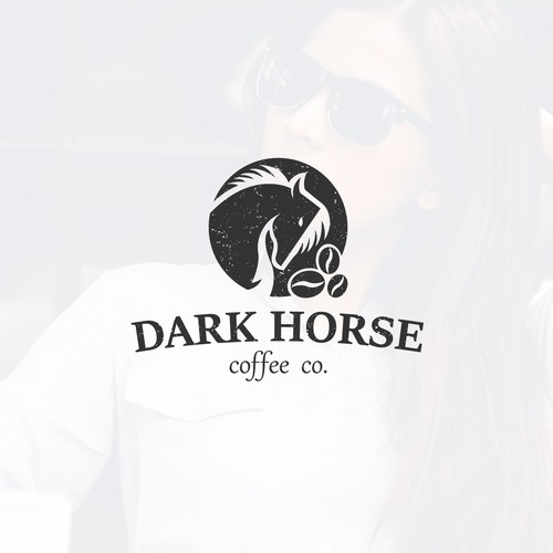 Logo concept for Dark Horse Coffee Co