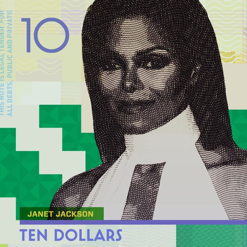 99D Community Contest: Redesign $10 Bill - Janet Jackson