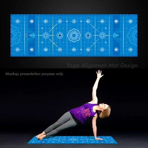 Yoga Alignment mat Design