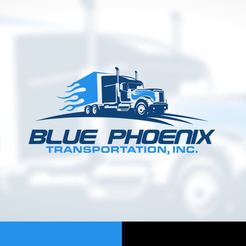 truck logo for blue phoenix