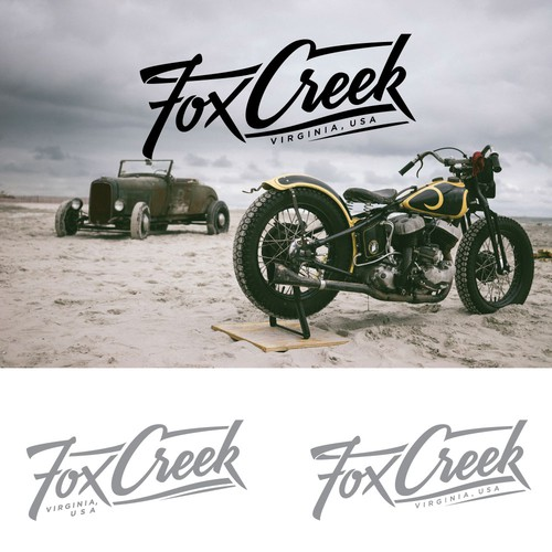 Lettering logo for biker apparel