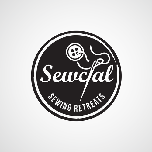 Logo for Sewcial, a company who produce sewing retreats