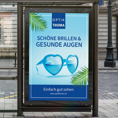 Poster Design proposal for OPTIK THOMA in THUN, SWISS