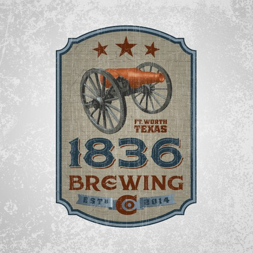 Logo for 1836 Brewing Company