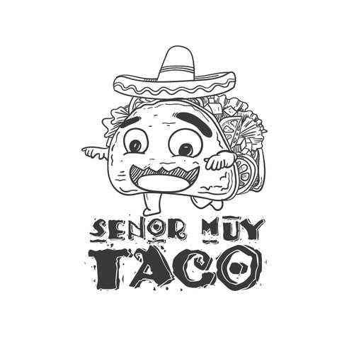 Senor Muy Taco ( Tacos Brand Mascot Design )