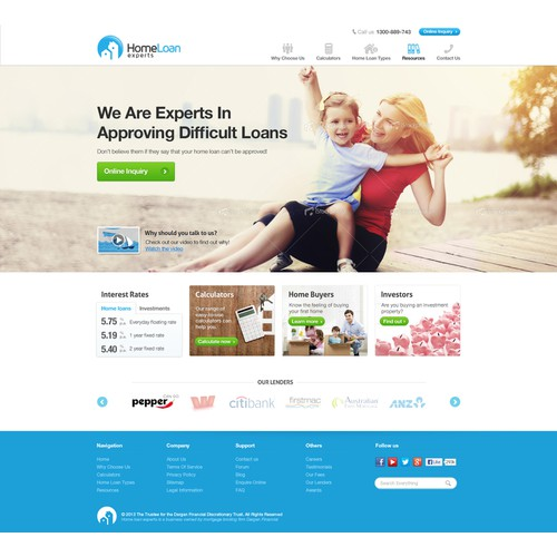 Create the next website design for Home Loan Experts
