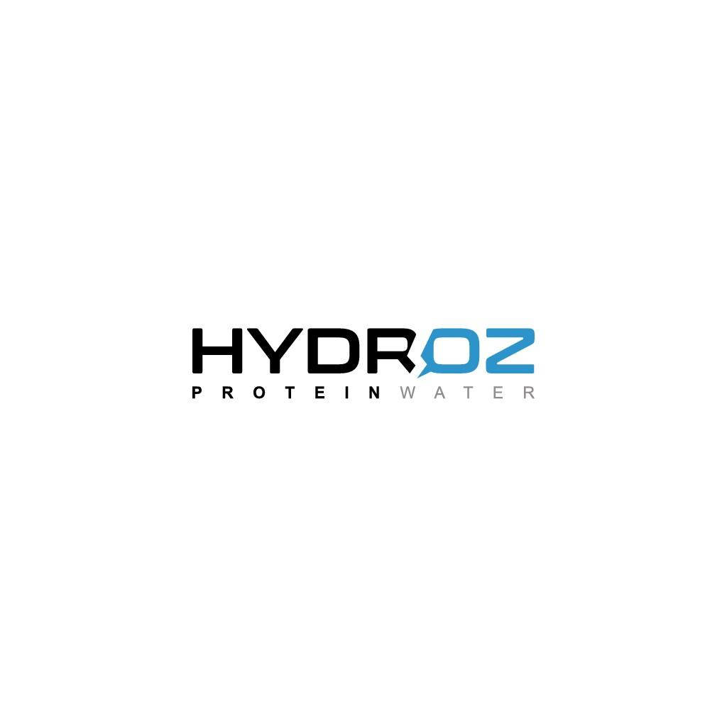 Design a minimal premium logo for Hydroz Protein Water