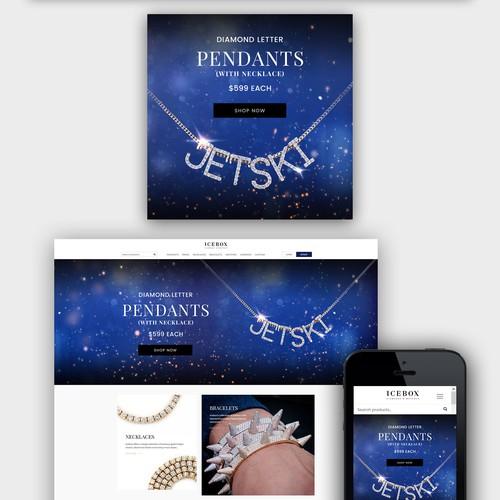 Winner - Homepage banner design - mobile & desktop