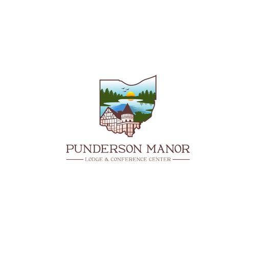 Ohio-state-park manor logo design