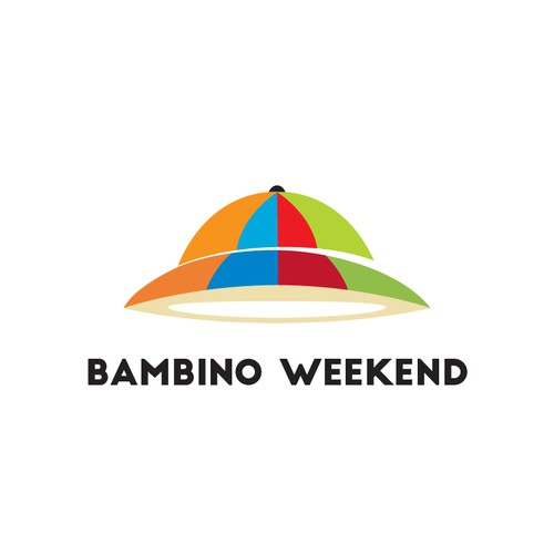 A logo for Bambino Weekend - An adventurous & inspirational brand