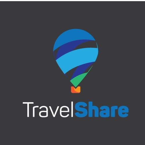 Travel blockchain startup powerful and fresh logo