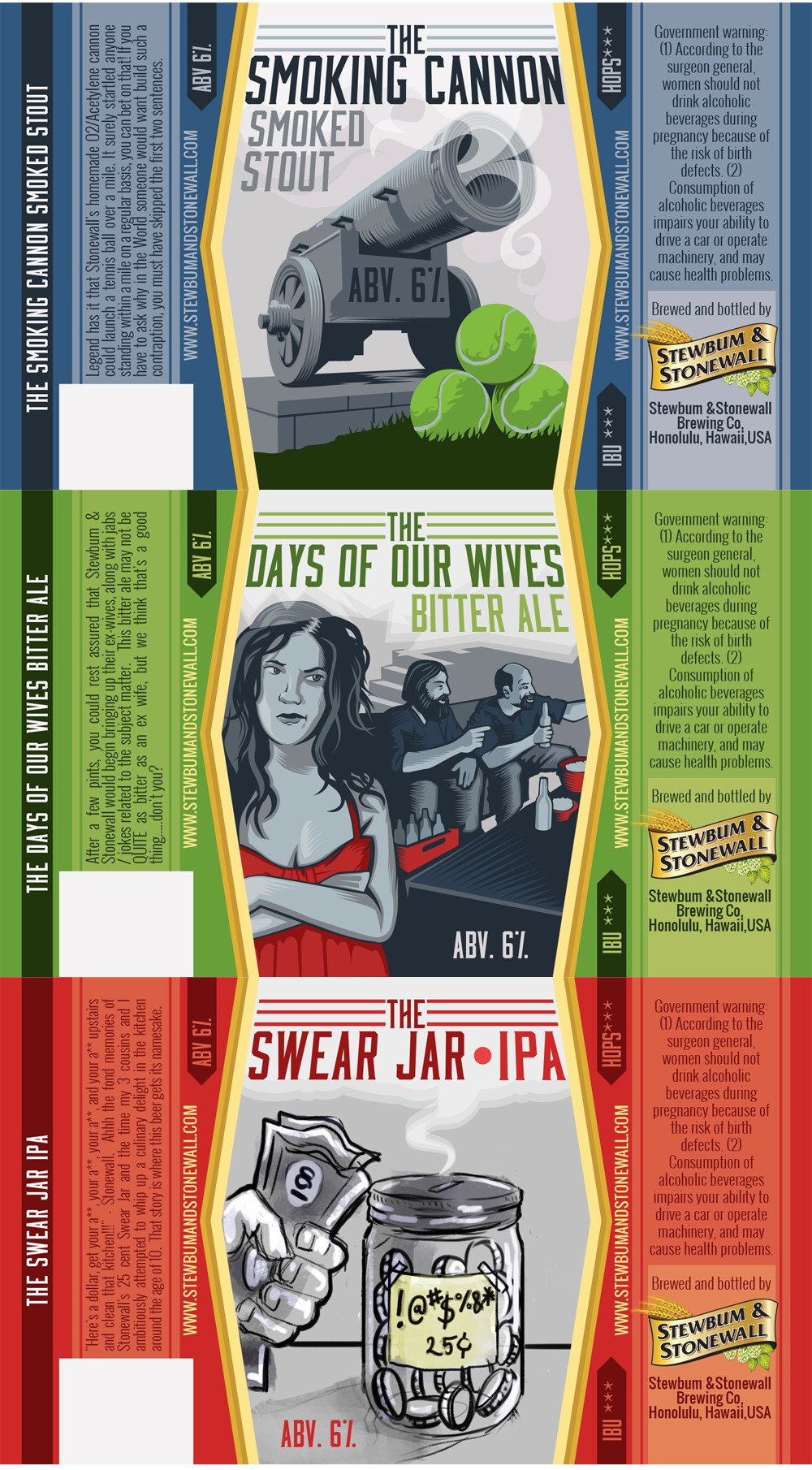 Create an awesome beer label(s) for a new craft brewery!