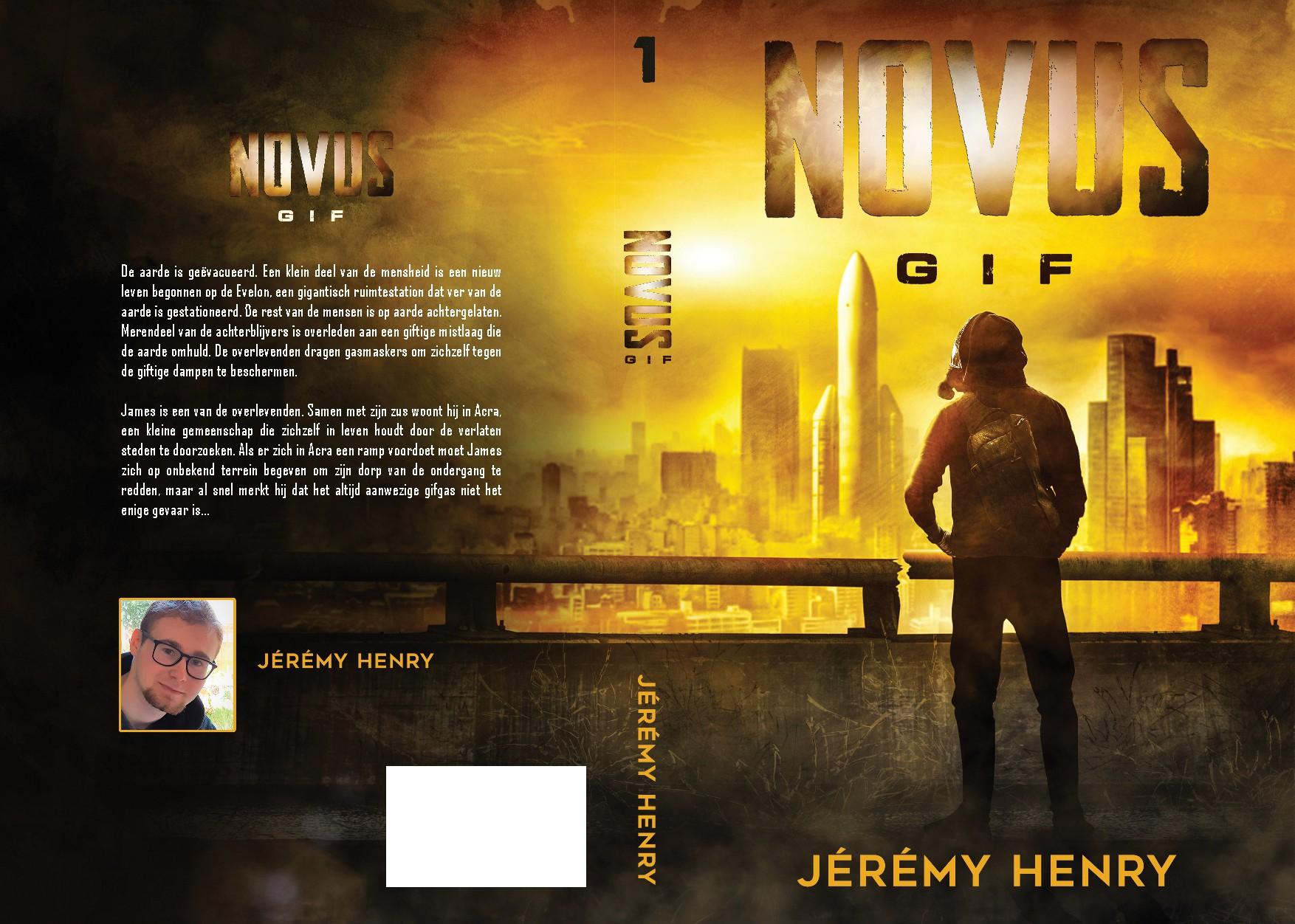 Omslagontwerp avontuurlijk sciencefiction verhaal (jongeren 12-17 jaar) over een vergiftigde aarde