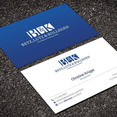 Create a Business Card for a german wealth manager for high networth individuals