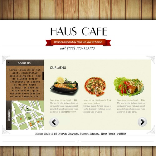 Help Haus Cafe with a new website design