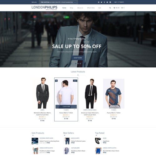 LondonPhilips E-Commerce Men Fashion Store