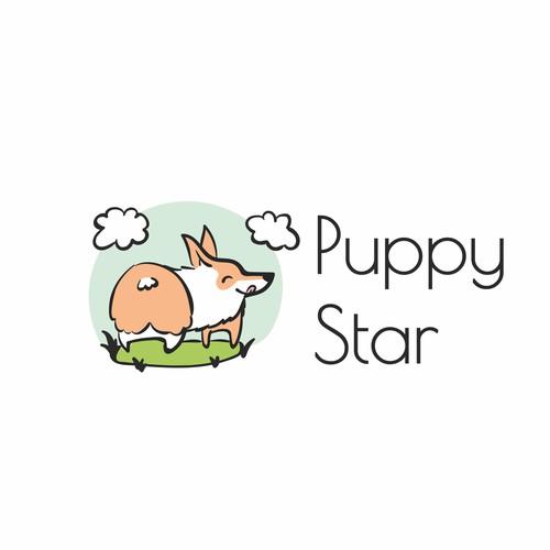 Funny&cute logo for pet shop