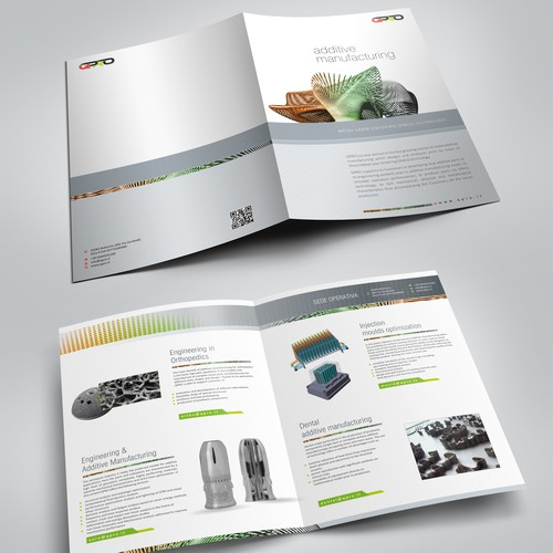 A brochure for a start-up in the revolutionary additive manufacturing business