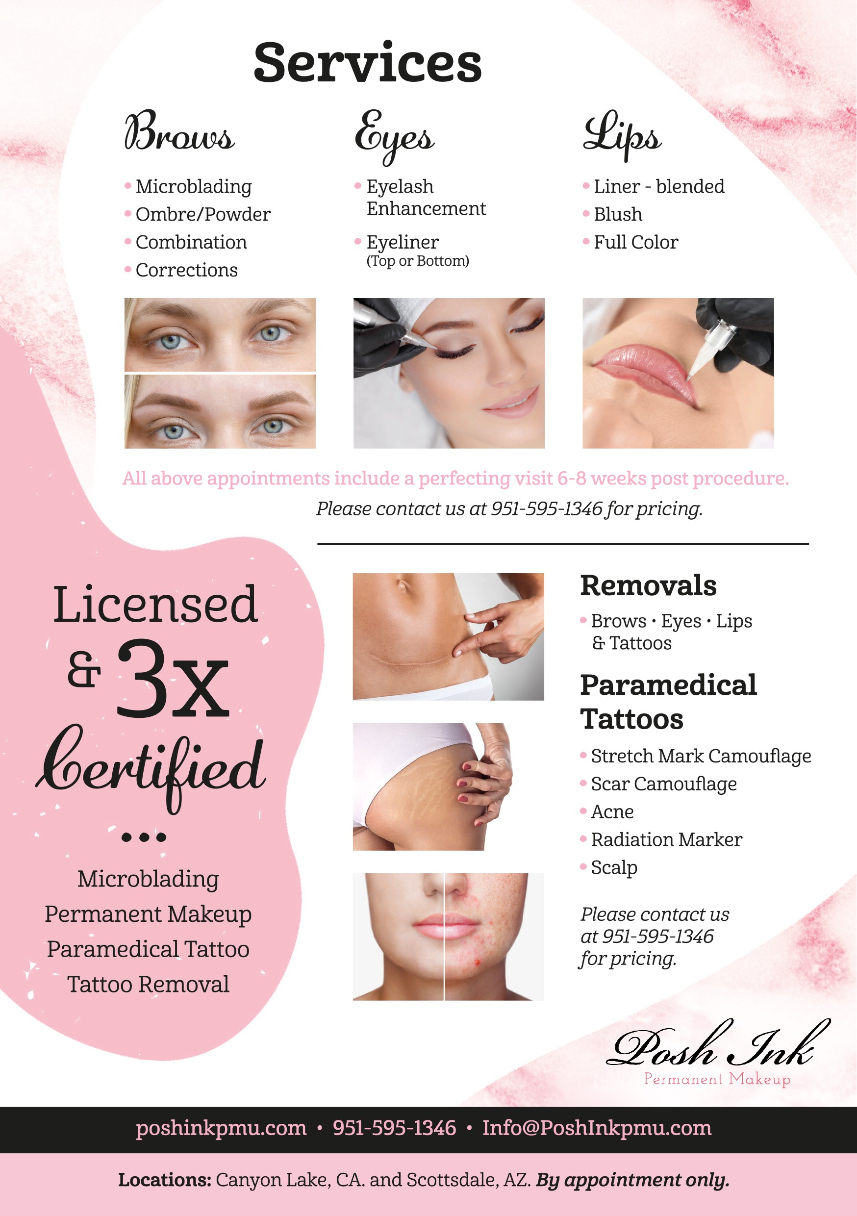 High End multi location Permanent Makeup/Paramedical Tattoo Business to appeal to women