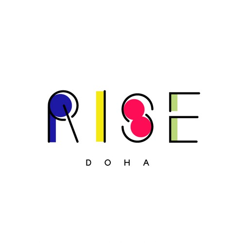 Logo Concept for Rise (substance free morning rave at Doha)