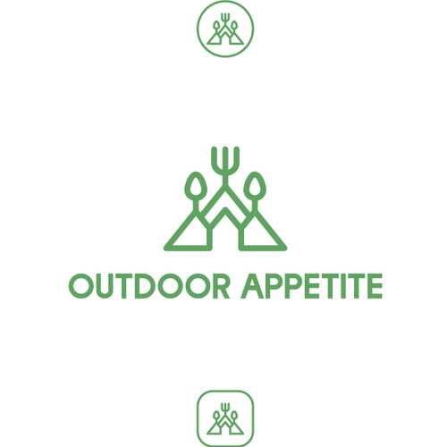 Logo concept for camp food company