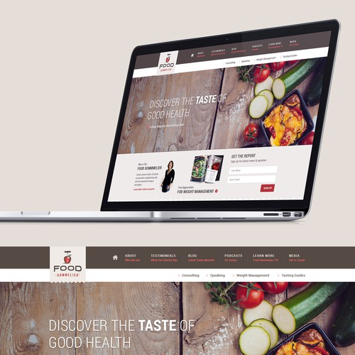 Food Blog Landing Page Design