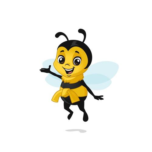 Cute bee mascot