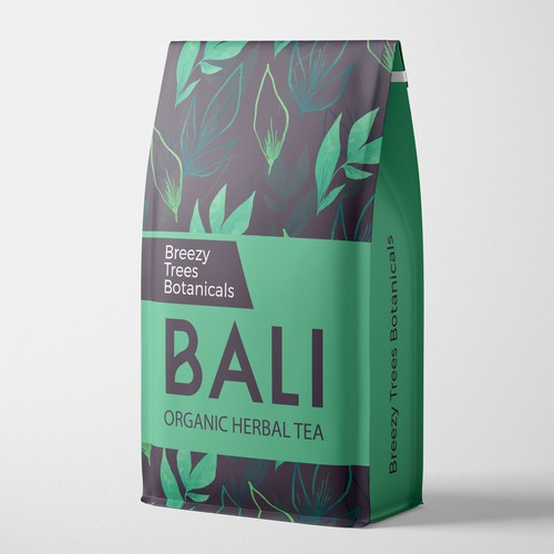 Organic herbal tea packaging