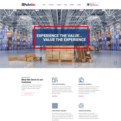 Company website for Pallet One
